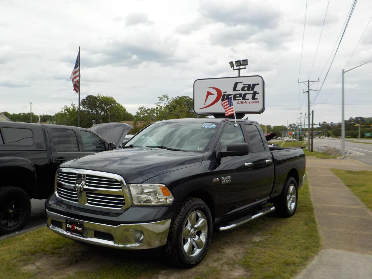 2013 RAM 1500 BIGHORN CREW CAB RWD, RUNNING BOARDS, REMOTE START, UCONNECT, TOW, BACKUP CAMERA, AUXILIARY PORT! Virginia Beach VA