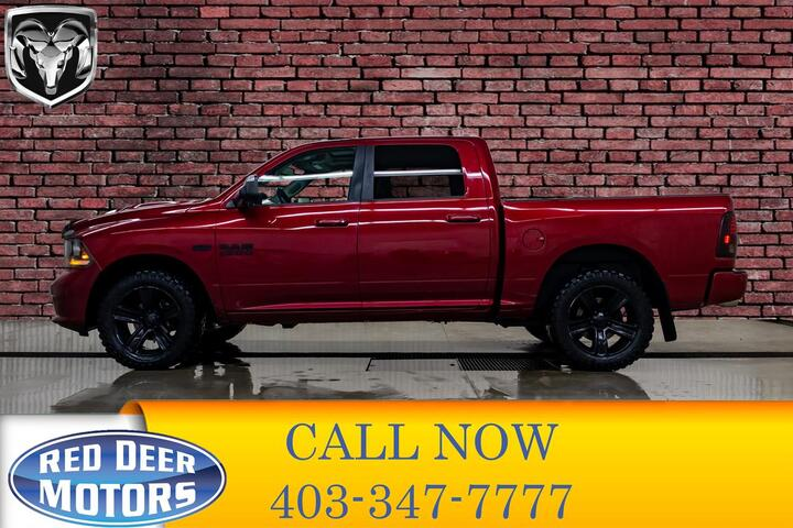 2013 Ram 1500 4x4 Crew Cab Sport Leather Roof Red Deer AB