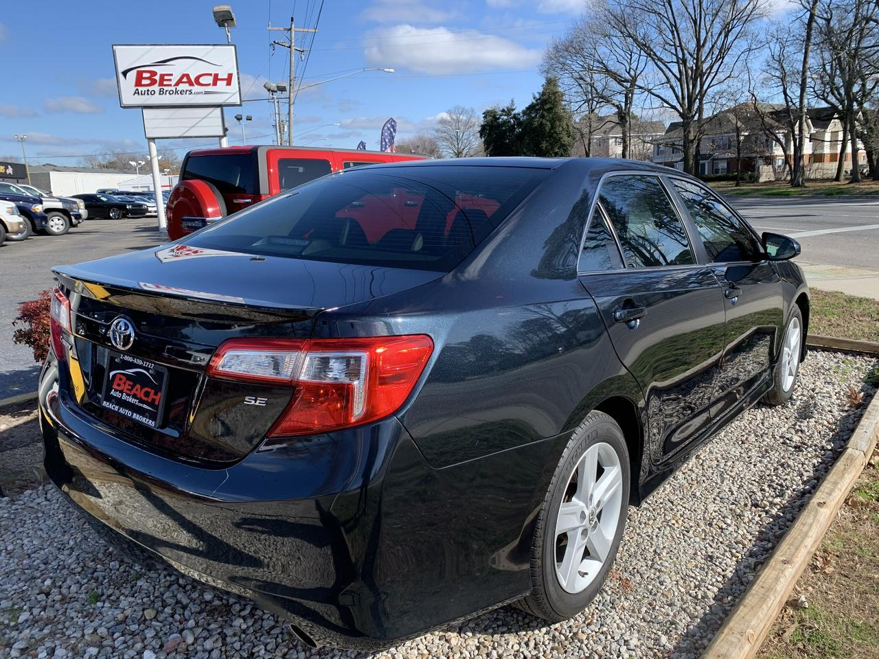 2013 TOYOTA CAMRY SE, WARRANTY, BACKUP CAMERA, PARKING SENSORS, SAT RADIO, BLUETOOTH, LOW MILES, CLEAN CARFAX! Norfolk VA