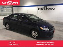 2013_Toyota_Corolla_CE Man / One Owner / Super Low Kms / Almost New_ Winnipeg MB
