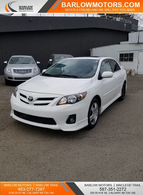 2013 Toyota Corolla S leather sunroof Navi Calgary AB