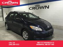 2013_Toyota_Matrix_Man Convenience Pkg / One Owner / Local / Immaculate Condition_ Winnipeg MB