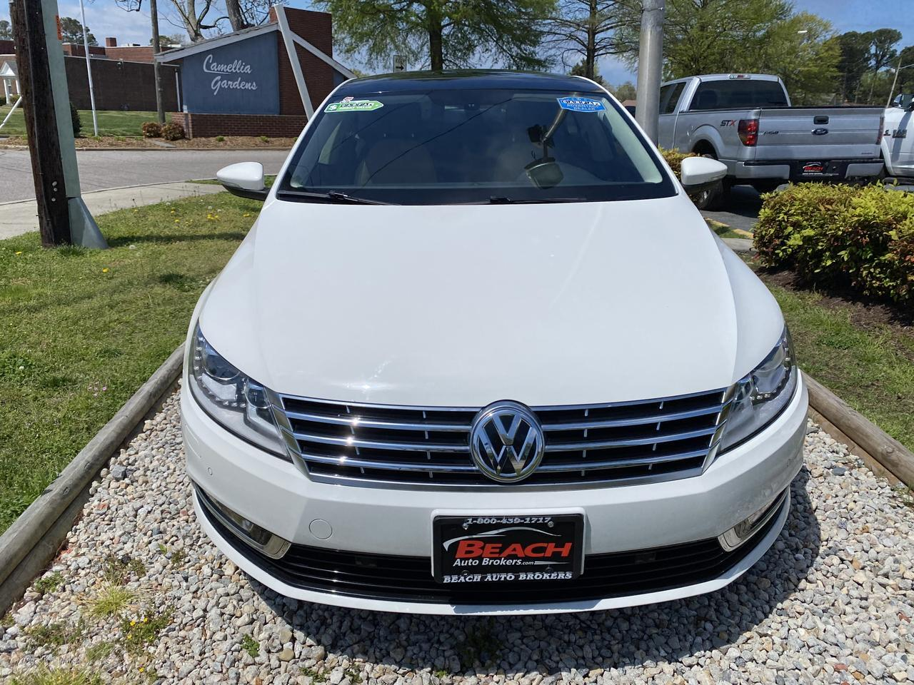 2013 VOLKSWAGEN CC EXECUTIVE, WARRANTY, LEATHER, NAV, SUNROOF, BACKUP CAM, PARKING SENSORS, BLUETOOTH, CLEAN CARFAX! Norfolk VA