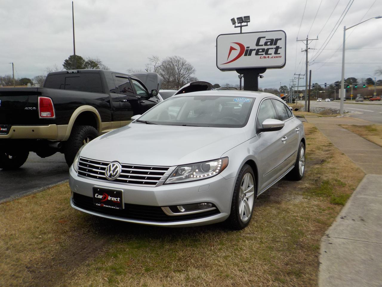 2013 VOLKSWAGEN CC SPORT PLUS PZEV, HEATED LEATHER SEATS, BLUETOOTH WIRELESS, SATALLITE CAPABILITIES, ONLY 88K MILES!