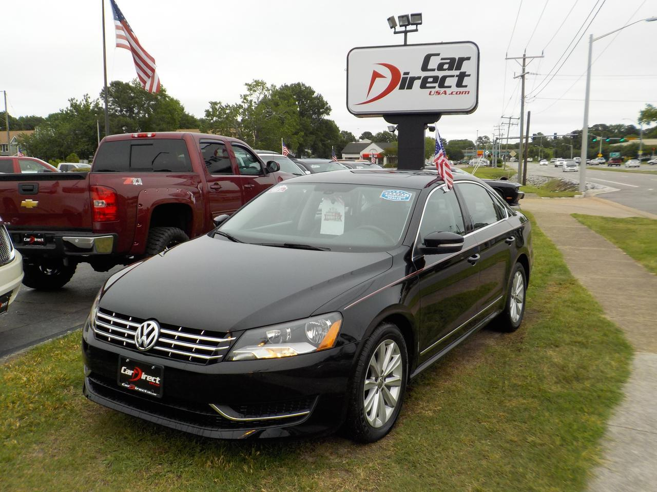 2013 VOLKSWAGEN PASSAT SEL, WARRANTY, FENDER SOUND SYSTEN, NAVI, BLUETOOTH, BACKUP CAM, SUNROOF, LEATHER!!