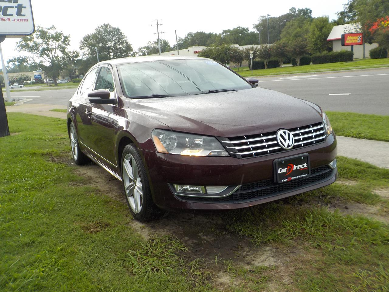 2013 VOLKSWAGON PASSAT TDI SEL PREMIUM, DVD ENTERTAINMENT SYSTEM, MEMORY SEATS, & SUNROOF!! Virginia Beach VA