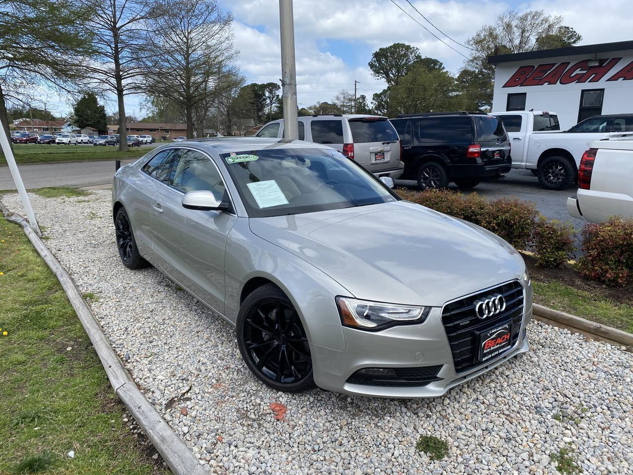 2014 AUDI A5 QUATTRO PREMIUM +, WARRANTY, LEATHER, NAV, HEATED/COOLED SEATS, SUNROOF, BACKUP CAM, CLEAN CARFAX!