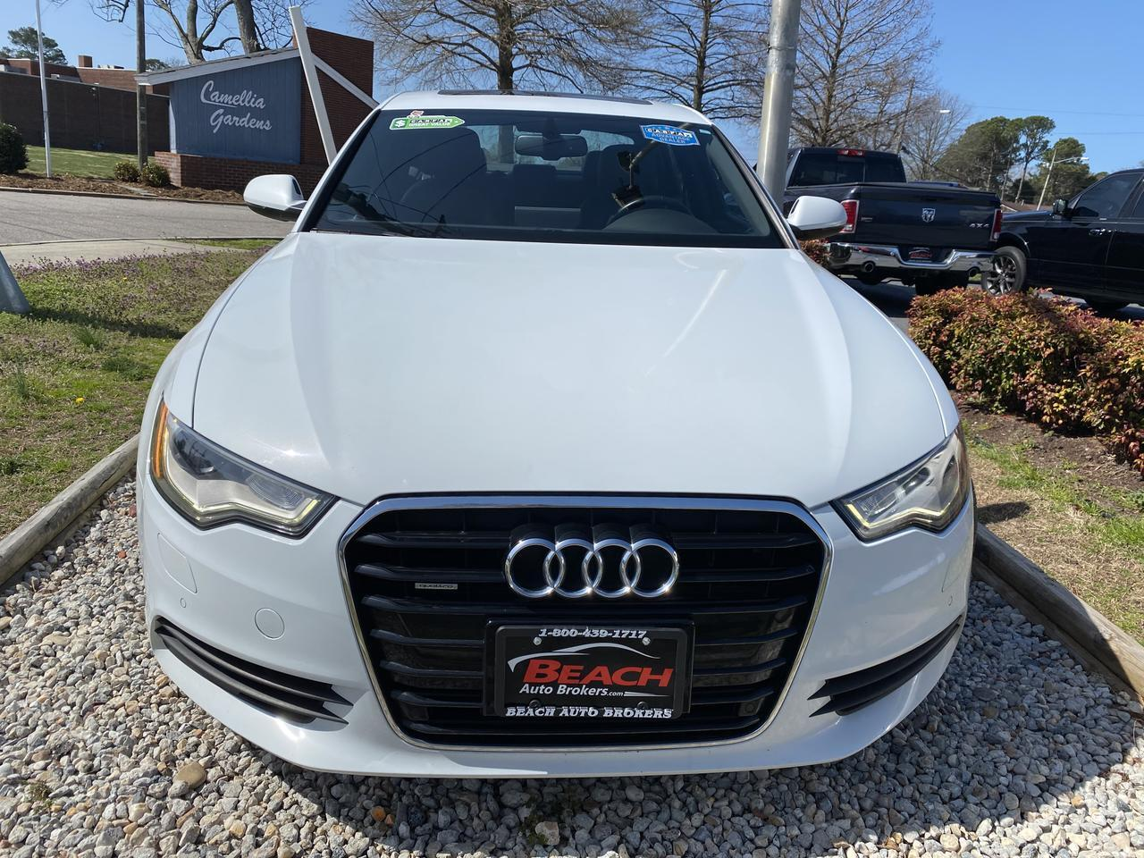 2014 AUDI A6 QUATTRO PREMIUM +, WARRANTY, LEATHER, NAV, HEATED SEATS, BACKUP CAM, PARKING SENSORS, 1 OWNER! Norfolk VA