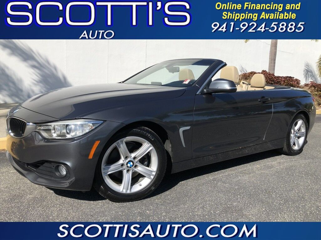2014 BMW 4 Series 428i~HARD TOP CONVERTIBLE~ ONLY 63K MILES~ CLEAN CARFAX~ AUTO~ONLINE FINANCE AND SHIPPING~ Sarasota FL