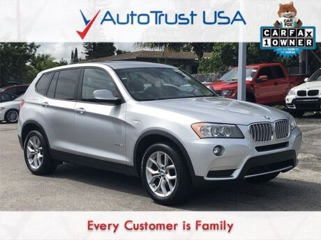 2014 BMW X3 xDrive35i 1 OWNER NAV HEADS UP DISPLAY PANO ROOF LIGHT PKG Miami FL