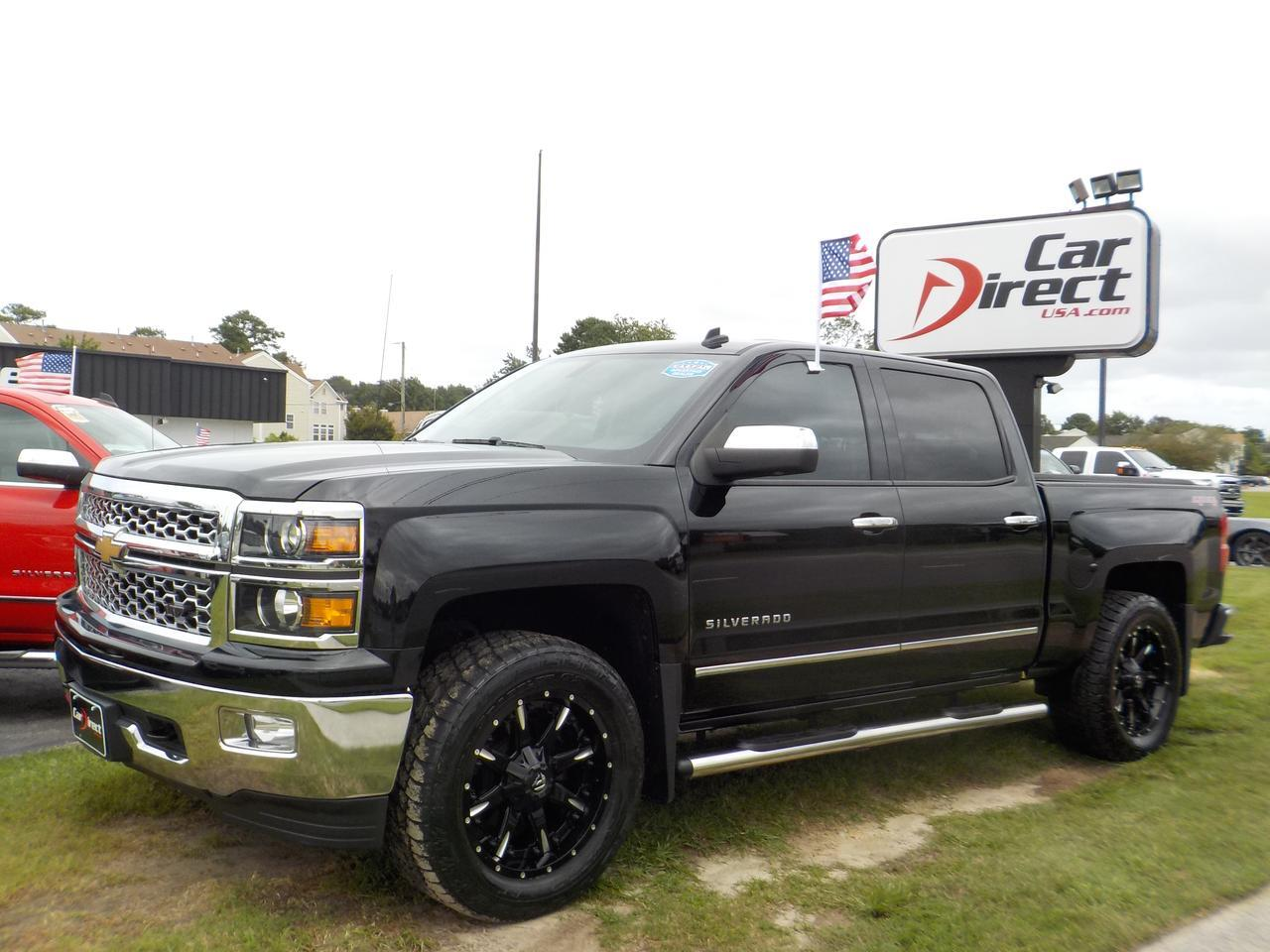 2014 CHEVROLET SILVERADO 1500 LTZ CREW CAB 4X4, LONG BED, BLUETOOTH, REMOTE START, BACKUP CAM, PARKING SENSORS, TOW PKG! Virginia Beach VA