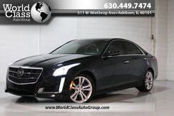 2014_Cadillac_CTS Sedan_Vsport Premium RWD - Xenon Lights Backup Camera & Sensors Pano Roof Leather Interior Navigation Driver Alert Seats_ Chicago IL
