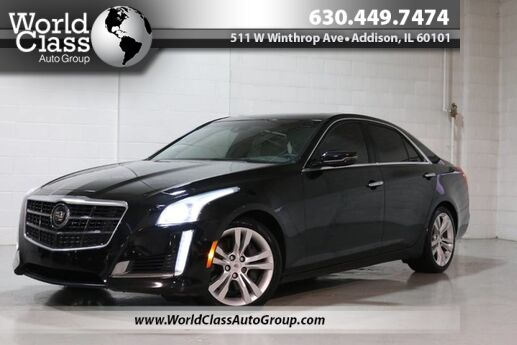 2014 Cadillac CTS Sedan Vsport Premium RWD - Xenon Lights Backup Camera & Sensors Pano Roof Leather Interior Navigation Driver Alert Seats Chicago IL