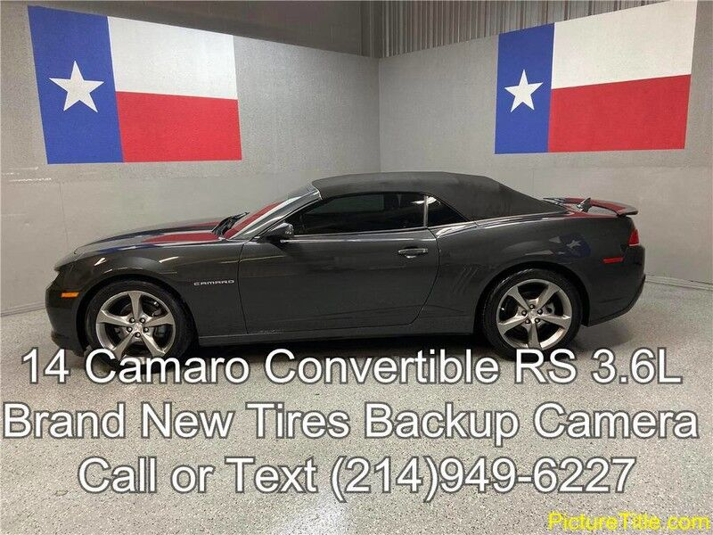 2014 Chevrolet Camaro RS 2014 LT Convertible Backup Camara 3.6L V6 New Tires Arlington TX