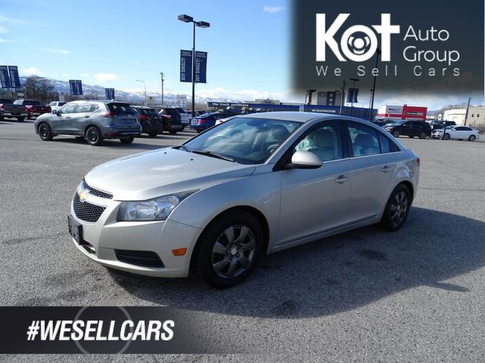 2014 Chevrolet Cruze 2LT, No Accidents! Low Km's, Back-up Camera, Heated Leather Seats, Extra Set of Tires Kelowna BC