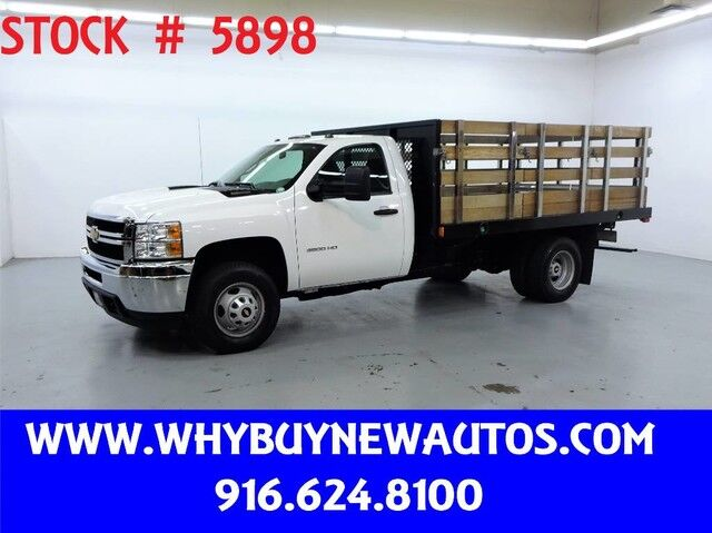 2014 Chevrolet Silverado 3500HD ~Diesel~12ft Stake Bed~Only 31K Miles! Rocklin CA