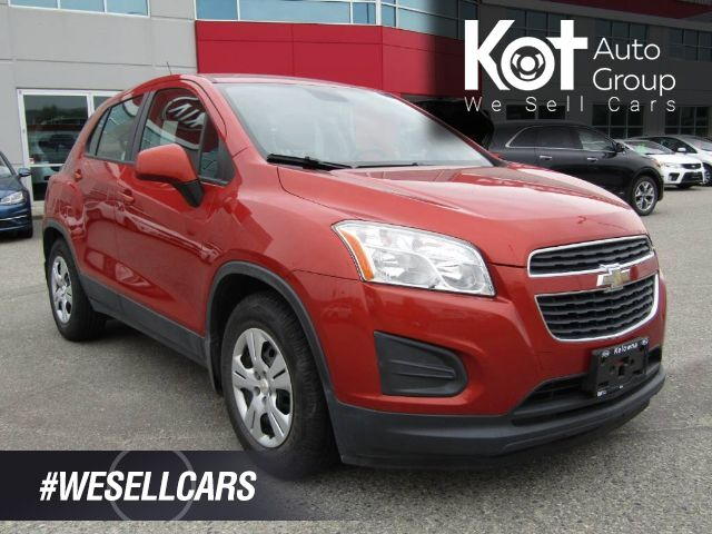 2014 Chevrolet TRAX LS! MANUAL! RARE COLOR! NO ACCIDENTS! UTILITY VEHICLE! BLUETOOTH! FUN TO DRIVE! Kelowna BC