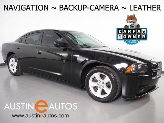 2014 Dodge Charger SXT *NAVIGATION, BACKUP-CAMERA, TOUCH SCREEN, LEATHER, HEATED SEATS, KEYLESS GO/PUSH BUTTON START, BLUETOOTH PHONE & AUDIO Round Rock TX
