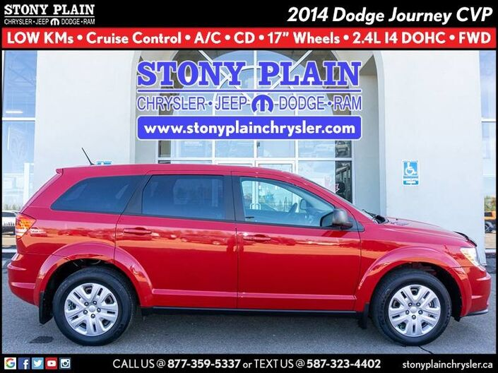 2014 Dodge Journey Canada Value Pkg Stony Plain AB