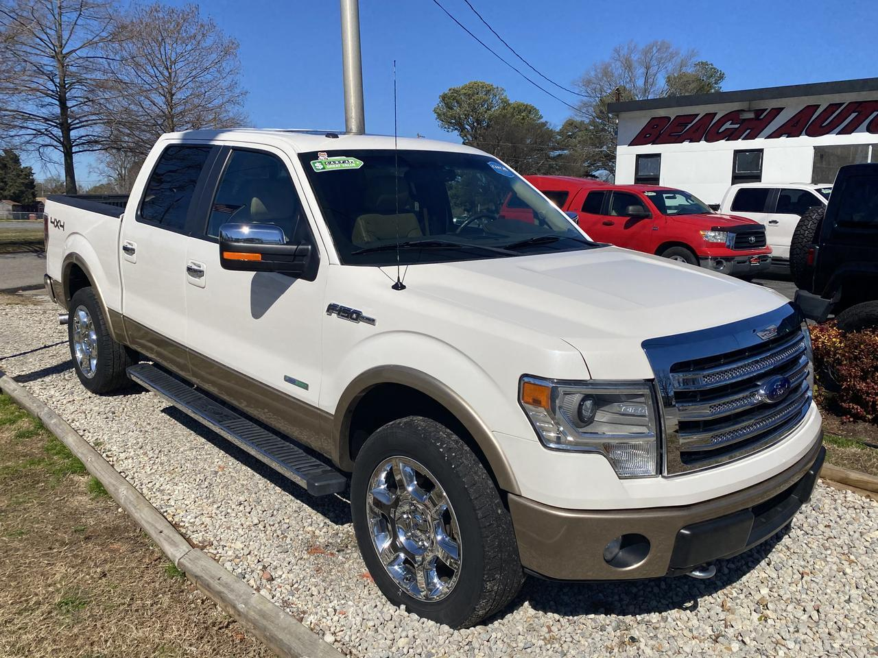 2014 FORD F-150 LARIAT SUPERCREW 4X4, WARRANTY, LEATHER, NAV, HEATED/COOLED SEATS, SUNROOF, BACKUP CAM! Norfolk VA