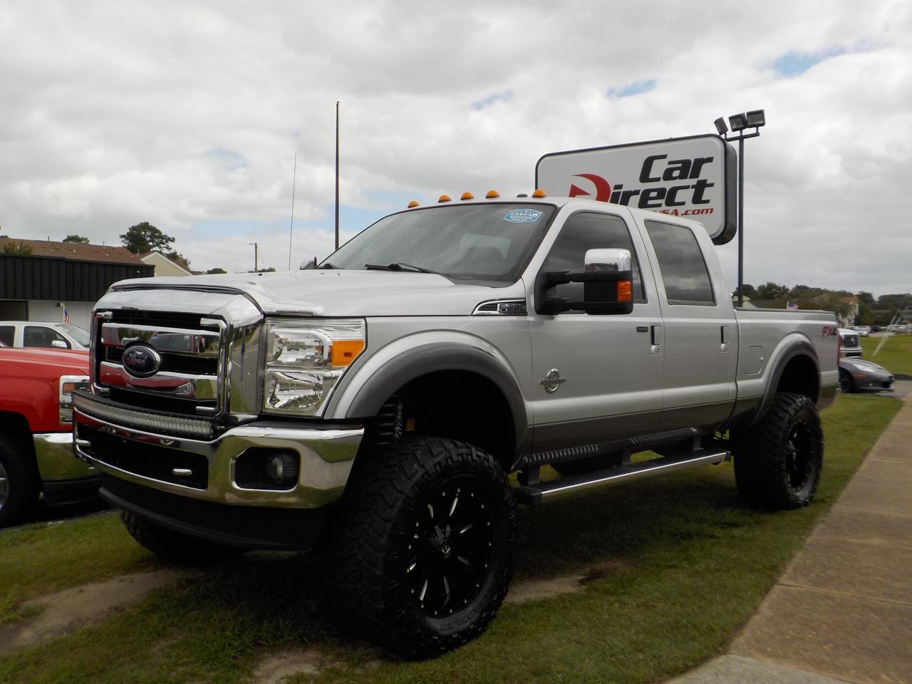 2014 FORD F-250 FX4 LARIAT CREW CAB 4X4, TURBO DIESEL, BACKUP CAM, LIFTED SUSPENSION, POWER SLIDING REAR WINDOW,NAV! Virginia Beach VA