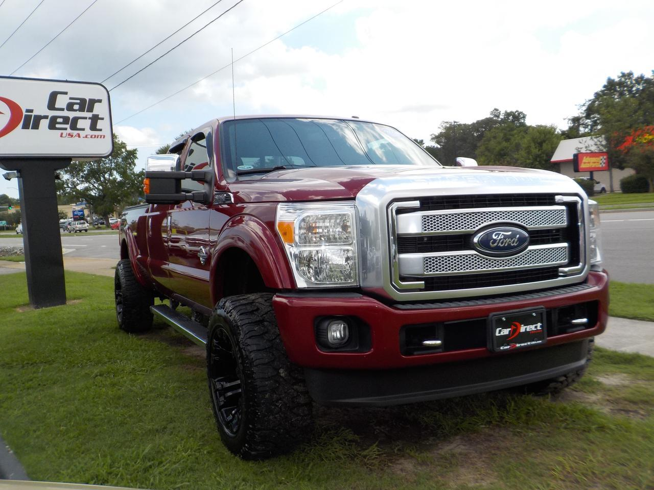2014 FORD F-350 PLATINUM SUPER DUTY 6.7L POWER STROKE DIESEL 4X4, LONG BED, LEATHER, ROOF, NAVI, LIFTED, GORGEOUS!!! Virginia Beach VA