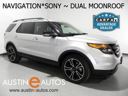 2014_Ford_Explorer 4WD Sport_*NAVIGATION, DUAL-PANE MOONROOF, BLIND SPOT ALERT, BACKUP-CAMERA, LEATHER, CLIMATE SEATS, SONY AUDIO, BLUETOOTH_ Round Rock TX