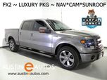 2014 Ford F-150 SuperCrew FX2 *NAVIGATION, BACKUP-CAMERA, TOUCH SCREEN, MOONROOF, LEATHER, CLIMATE BUCKET FRONT SEATS, SONY AUDIO, BLUETOOTH