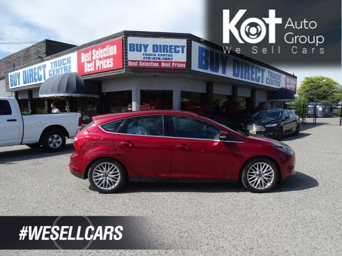 2014 Ford Focus Titanium, Navigation, Heated Seats, Back-up Camera, Fuel Effcient Kelowna BC