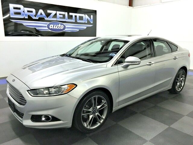 2014 Ford Fusion Titanium, Nav, Roof, Rear Camera, Heated Seats Houston TX