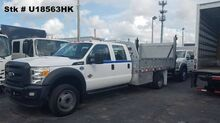 2014_Ford_Super Duty F-550XLT DRW_Aluminum Flatbed w/Rail-gate_ Homestead FL