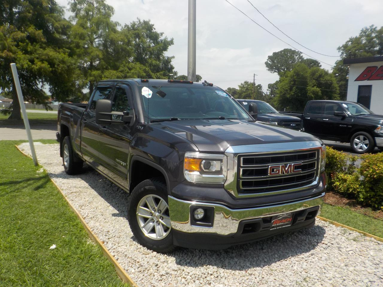 2014 GMC SIERRA 1500 SLE CREW CAB 4X4, WARRANTY, BACKUP CAM, TOW PKG,  ONSTAR, HEATED SEATS, POWER DRIVERS SEAT!
