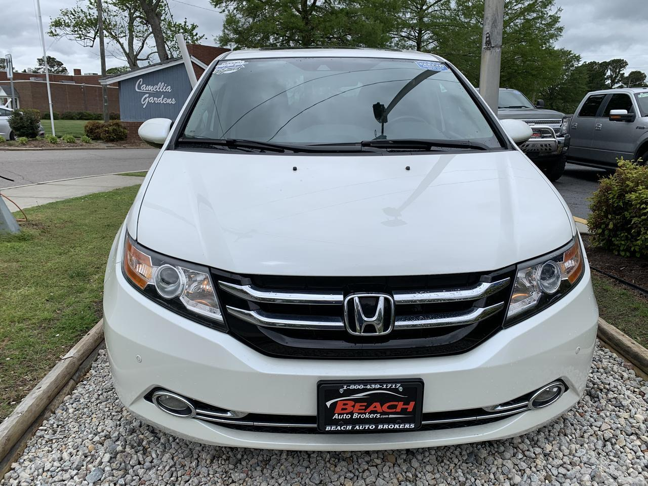 2014 HONDA ODYSSEY TOURING ELITE, WARRANTY, LEATHER, SUNROOF, NAV, DVD PLAYER, HEATED SEATS, BLUETOOTH, 1 OWNER! Norfolk VA