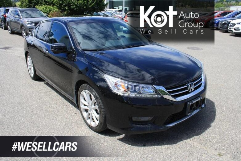 2014 Honda Accord Sedan Touring HEATED SEATS! SUNROOF! LEATHER,NAVIGATION! TWO SETS OF Kelowna BC