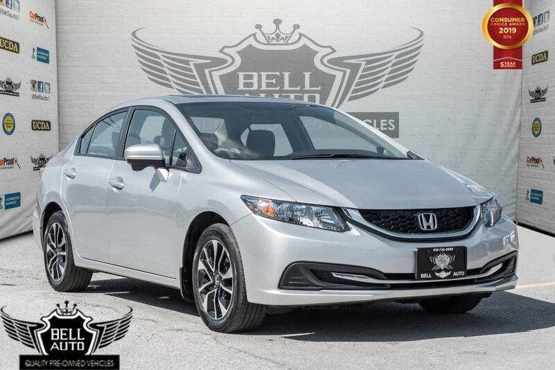 2014 Honda Civic EX BACK-UP & SIDE CAM, SUNROOF, BLUETOOTH