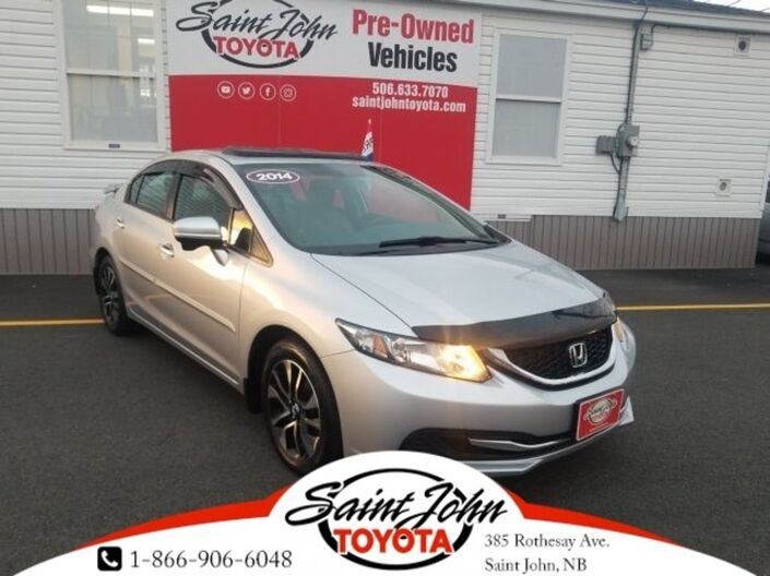 2014 Honda Civic EX with SUNROOF $143.27 BIWEEKLY!!! Saint John NB
