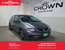 2014_Honda_Civic Sedan_EX / one owner lease return/ low kms/ push start button/ econ mode assist/ heated seats_ Winnipeg MB