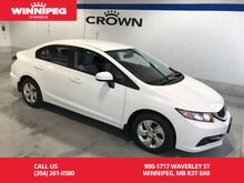 2014_Honda_Civic Sedan_LX/Heated seats/Bluetooth_ Winnipeg MB