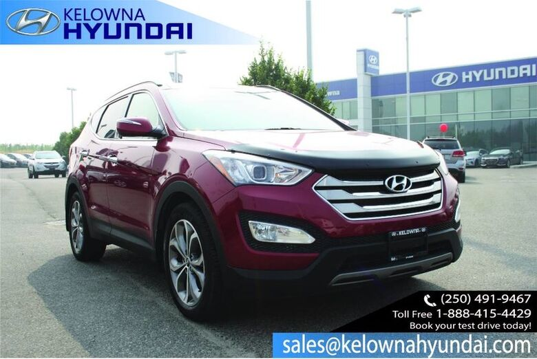 2014 Hyundai Santa Fe Sport Limited Bluetooth, Heated Front seats, leather, Sunroof, Nav CPO 3.99% Penticton BC