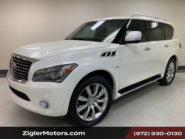2014 INFINITI QX80 1-OWNER CLEAN CARFAX Theater Pkg Rear Ent Backup Camera Clean Carfax Addison TX