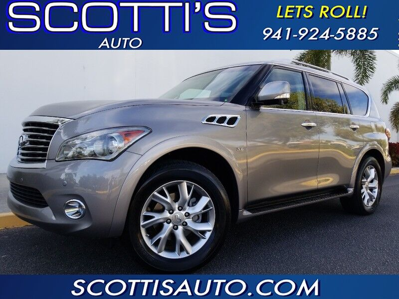 2014 INFINITI QX80 NAVIGATION~ 3RD ROW SEAT~GREAT PRICE~~ VERY WELL SERVICED~ CLEAN CARFAX~ FINANCE AVAILABLE!~ Sarasota FL