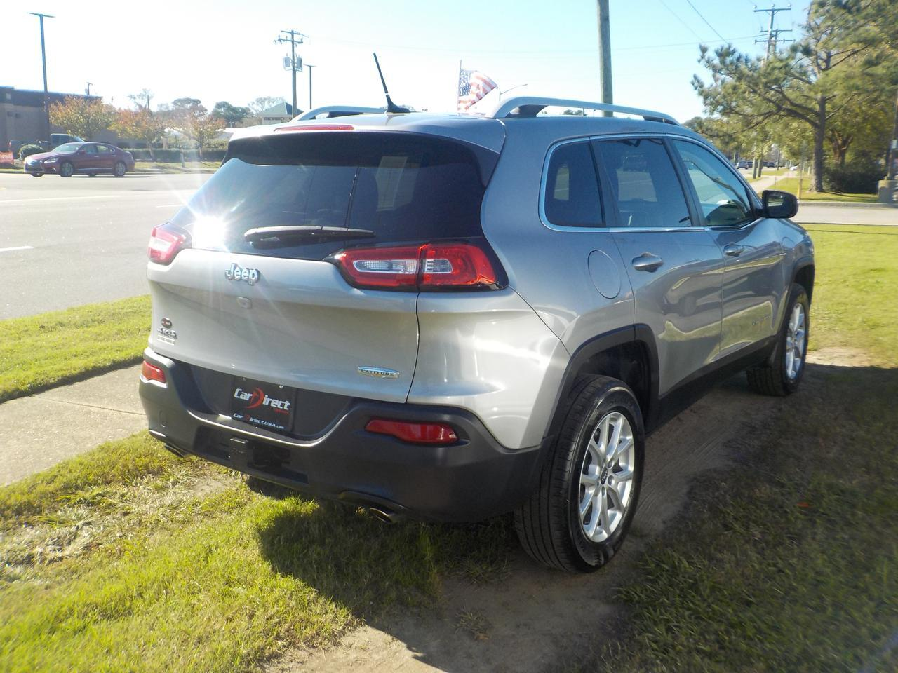 2014 JEEP CHEROKEE LATITUDE V6 4X4, KEYLESS START, BLUETOOTH, BACKUP CAM, HEATED SEATS, TOW PACKAGE, ONLY 74K MILES! Virginia Beach VA