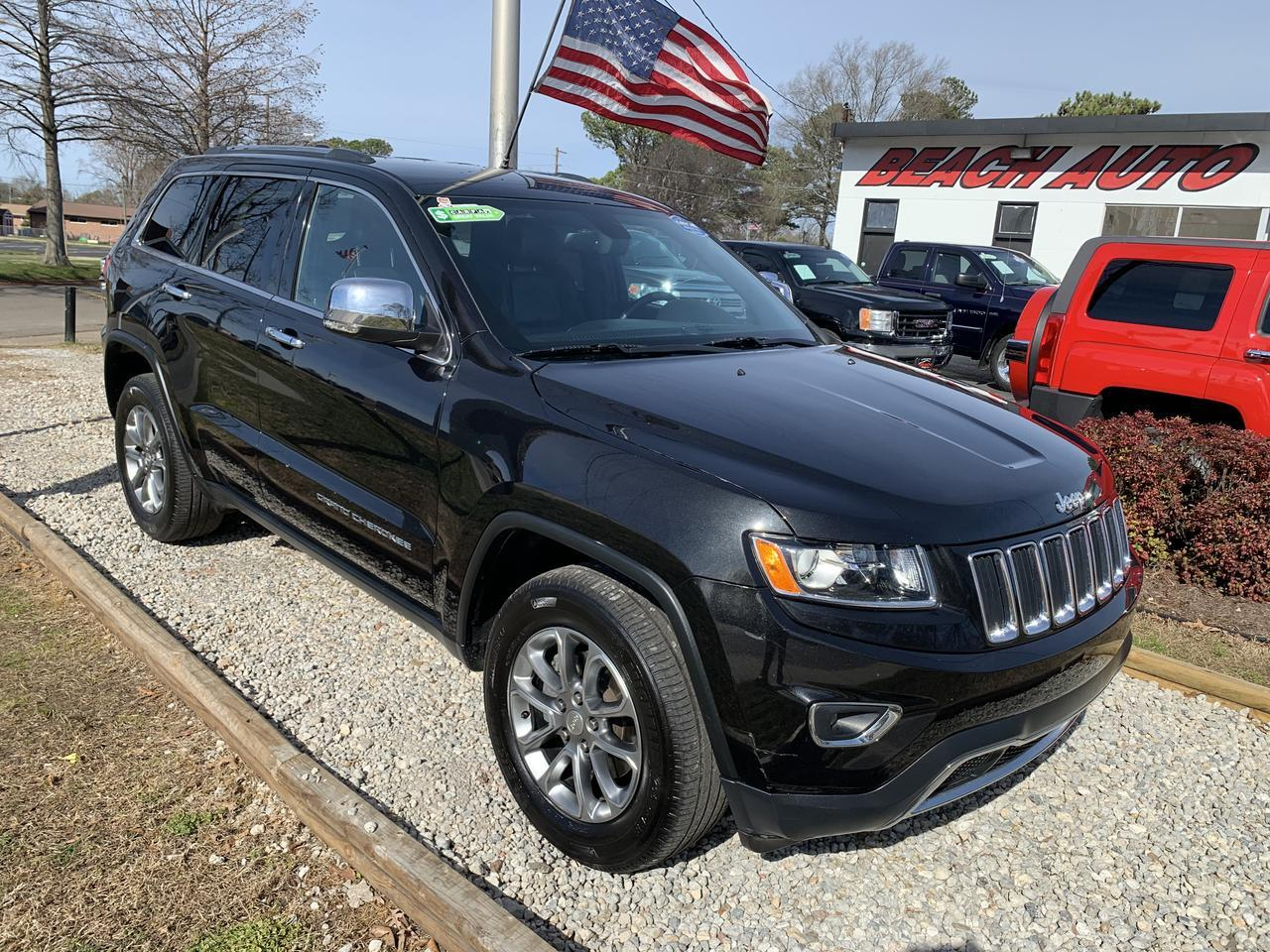 2014 JEEP GRAND CHEROKEE LIMITED 4X4, WARRANTY, LEATHER, NAV, HEATED SEATS, KEYLESS START, BLUETOOTH, REMOTE START! Norfolk VA