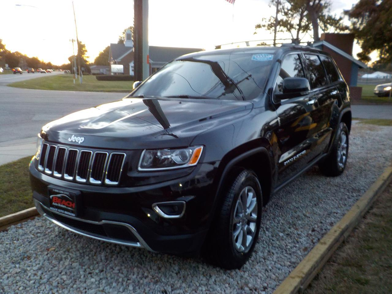2014 JEEP GRAND CHEROKEE LIMITED 4X4, WARRANTY, LEATHER, SUNROOF, NAV, HEATED/COOLED SEATS, REMOTE START,1 OWNER! Norfolk VA