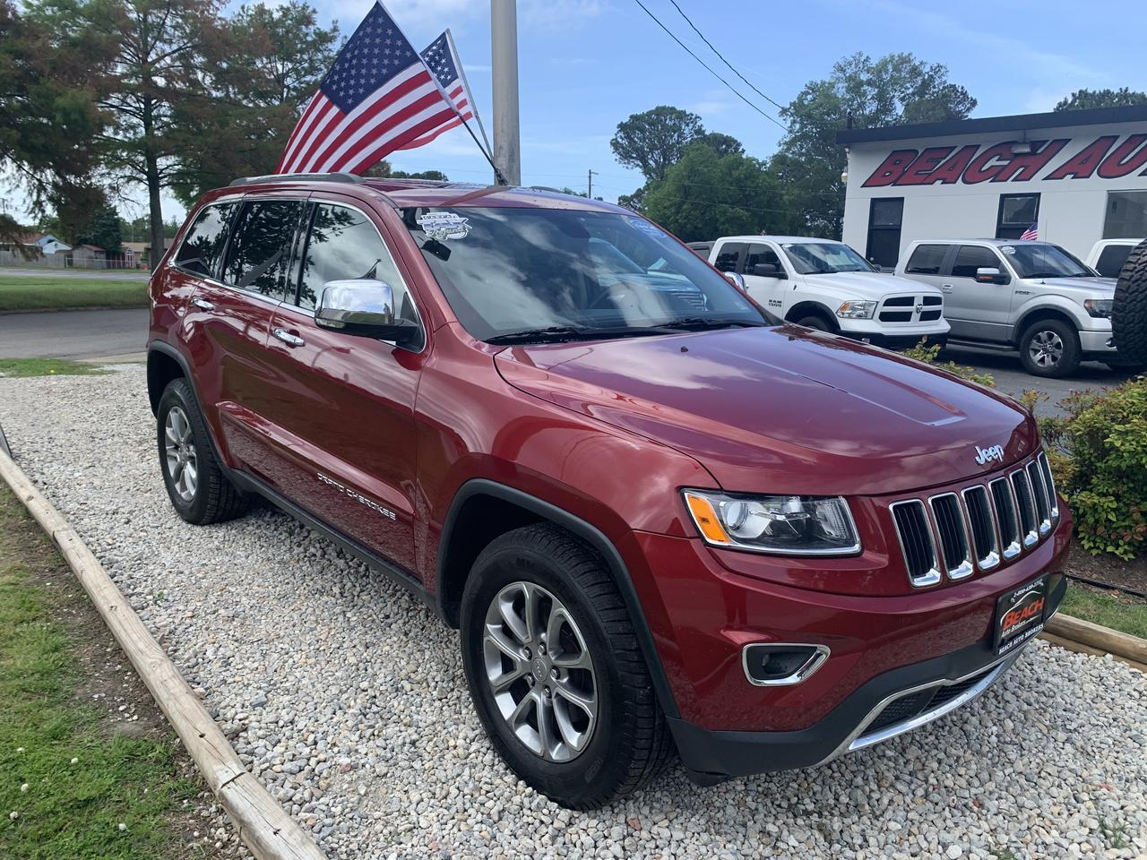 2014 JEEP GRAND CHEROKEE LIMITED 4X4, WARRANTY, LEATHER, SUNROOF, NAV, HEATED SEATS, BLUETOOTH, BACKUP CAM, REMOTE START! Norfolk VA