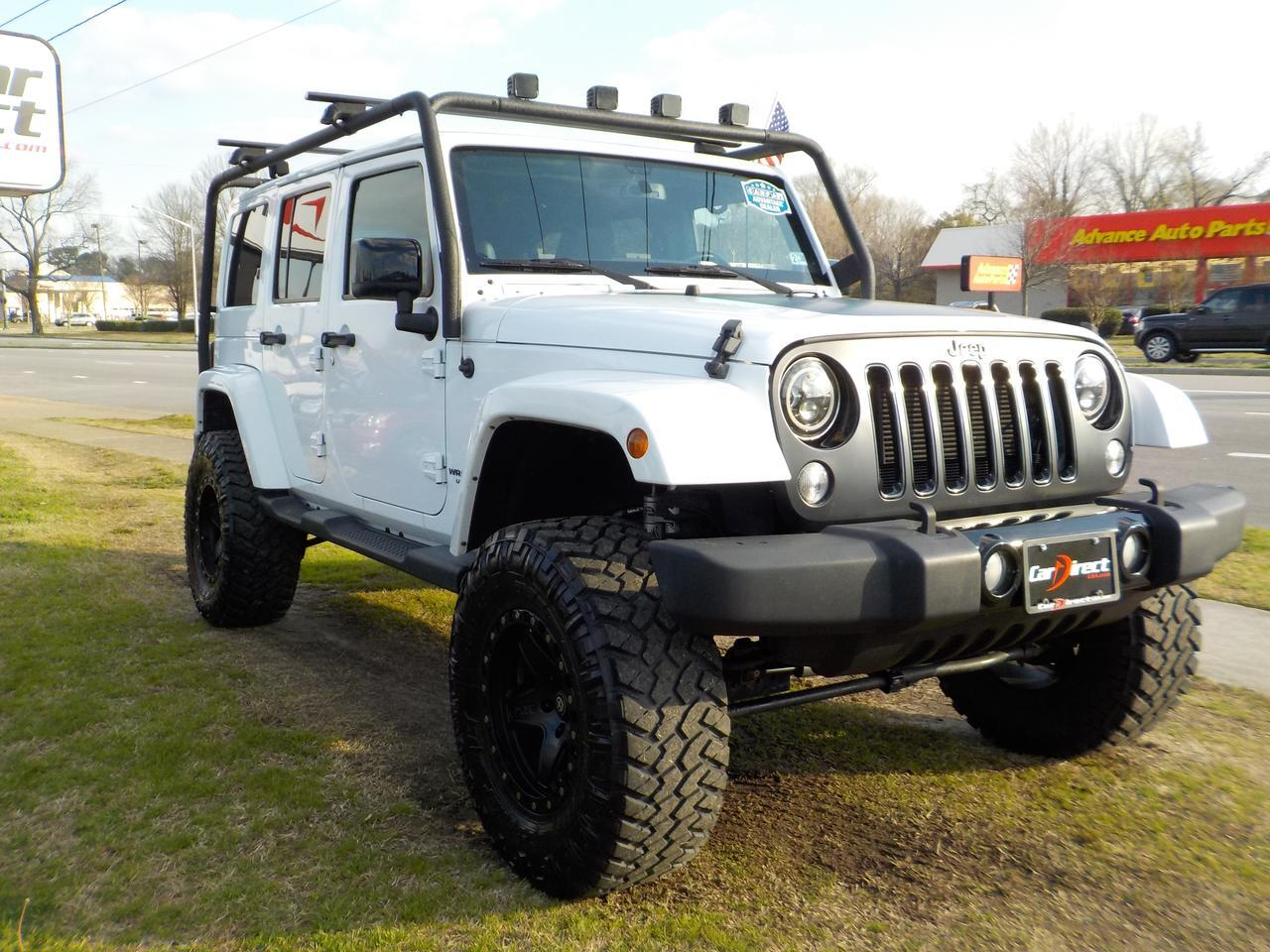 2014 JEEP WRANGLER UNLIMITED SAHARA 4X4, WARRANTY, ROOF RACKS, LEATHER, NAVIGATION, BLUETOOTH, REMOTE START, TOW! Virginia Beach VA