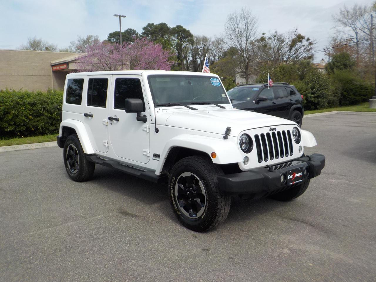 2014 JEEP WRANGLER UNLIMITED SAHARA POLAR EDITION 4X4, NAVIGATION, BLUETOOTH, HARD TOP, REMOTE START, HEATED SEATS! Virginia Beach VA