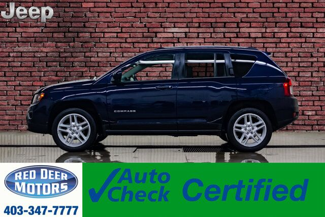 2014 Jeep Compass 4x4 Limited Leather Roof Nav BCam Red Deer AB