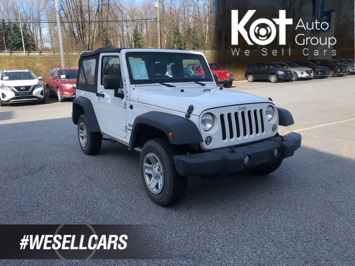 2014 Jeep WRANGLER SPORT! RARE UNIT! NO ACCIDENTS! LOCAL UNIT! Penticton BC