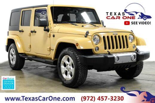 2014 Jeep Wrangler UNLIMITED SAHARA 4WD AUTOMATIC HARD TOP CONVERTIBLE CRUISE CONTR Carrollton TX